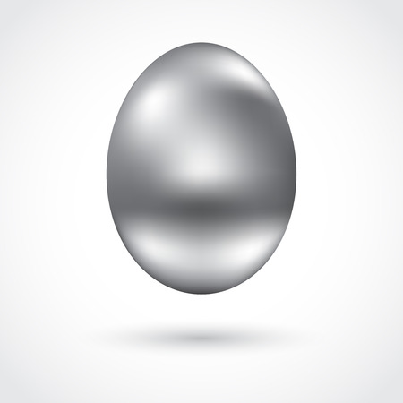 Beautiful silver egg for your design