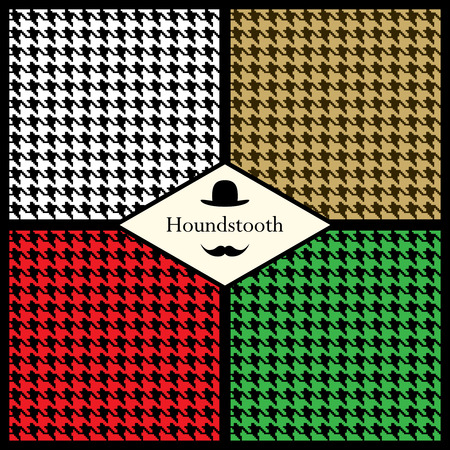 Set of houndstooth check seamless patterns for your design
