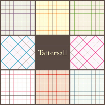 Set of tattersall plaid seamless patterns for your design Illustration