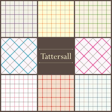 Set van tattersall plaid naadloze patronen voor uw ontwerp Stock Illustratie