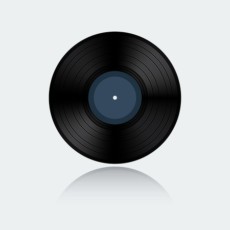 Vinyl record isolated on white background Illustration