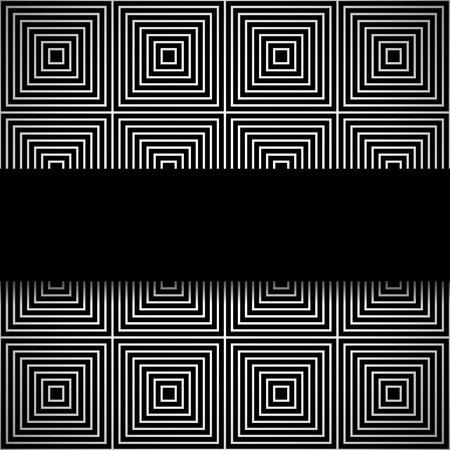 Bandera negro elegante en blanco y negro sin fisuras patr�n con cuadrados. Versi�n oscura. Vectores