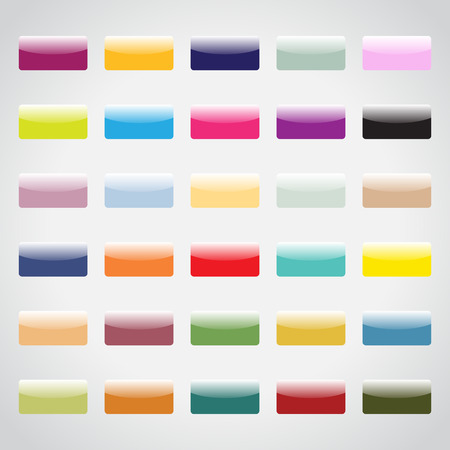 Set of colorful buttons for your design Illustration