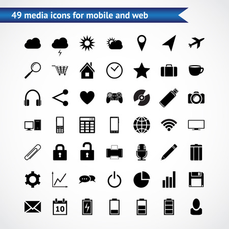 Set of high quality icons for web and mobile Vector