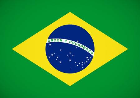 brazil flag: National flag of Brazil with correct proportions and color scheme Illustration