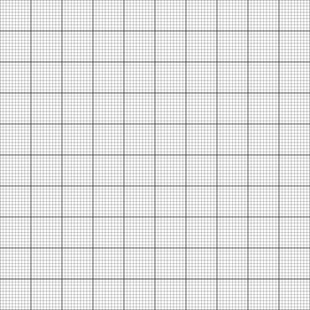 Graph paper. Seamless vector background (black). Ilustração