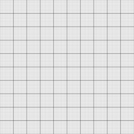 Graph paper. Seamless vector background (black). Vector