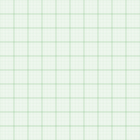 plotting: Graph paper. Seamless vector background (green).