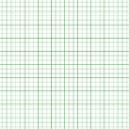 Ruitjespapier. Naadloze vector achtergrond (groen). Stock Illustratie