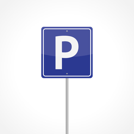 Parking sign isolated on white background Vector