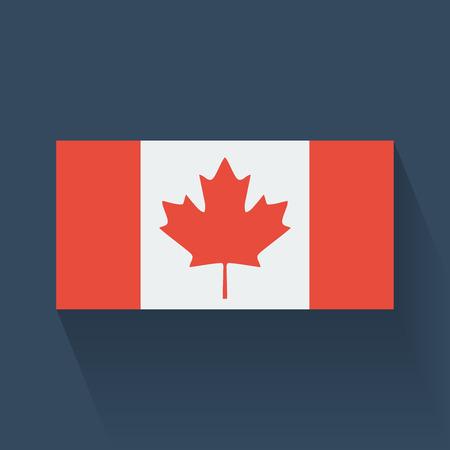 Geïsoleerde nationale vlag van Canada Flat ontwerp