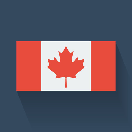 canadian state flag: Isolated national flag of Canada  Flat design