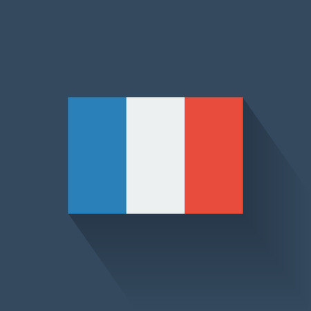 Isolated national flag of France  Flat design