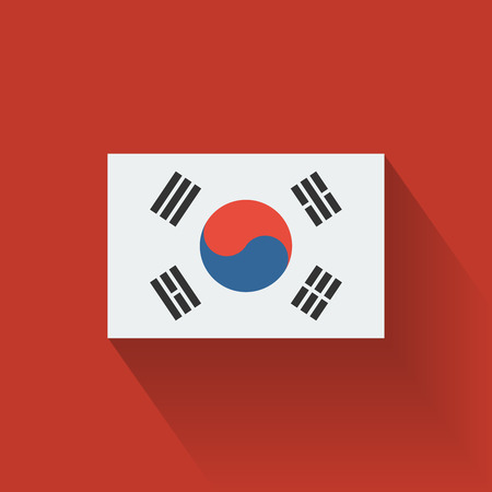 Isolated national flag of South Korea  Flat design