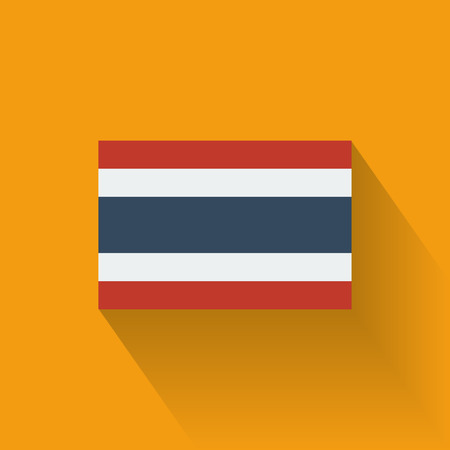 Isolated national flag of Thailand  Flat design