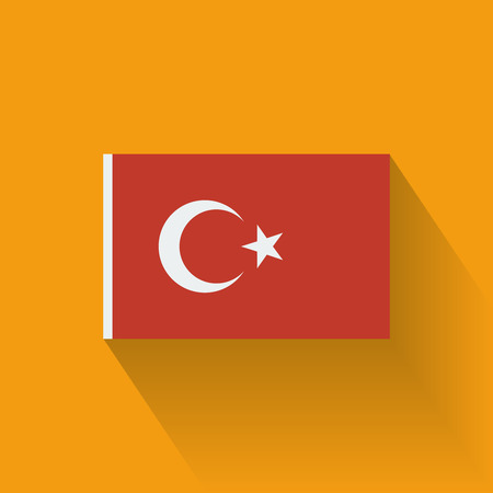 Isolated national flag of Turkey  Flat design