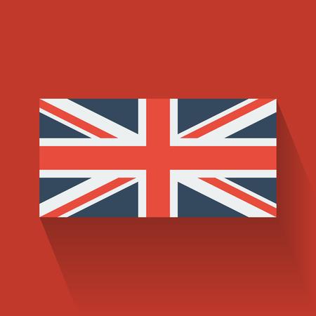 Bandera nacional aislada del dise�o Flat Reino Unido Vectores
