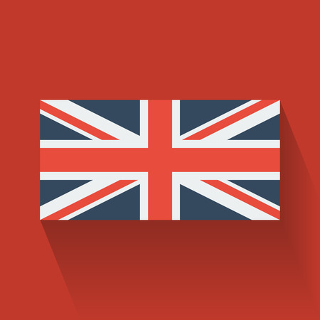 Isolated national flag of the UK  Flat design  Vector