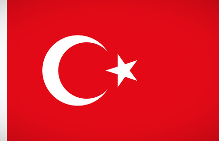 turkey flag: National flag of Turkey with correct proportions and color scheme