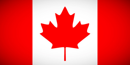 National flag of Canada with correct proportions and color scheme Vector