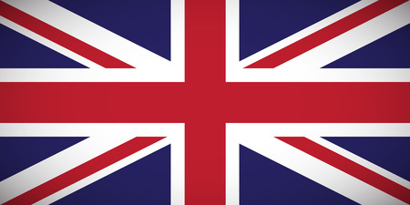 National flag of the United Kingdom of Great Britain and Northern Ireland (Union Jack) with correct proportions and color scheme Ilustração