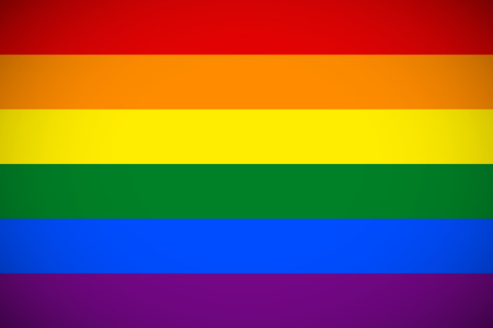 Flag of the LGBT community with correct color scheme
