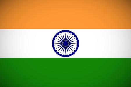 bandera de la india: Bandera nacional de la India con proporciones correctas y esquema de color Vectores
