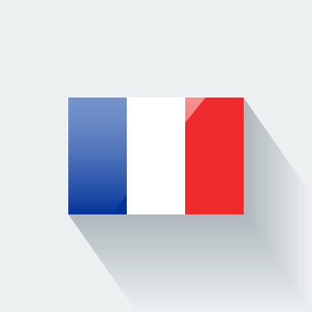 proportions: Glossy icon with national flag of France  Correct proportions and color scheme