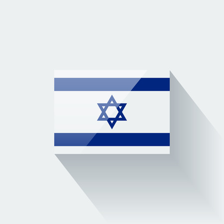 Glossy icon with national flag of Israel  Correct proportions and color scheme