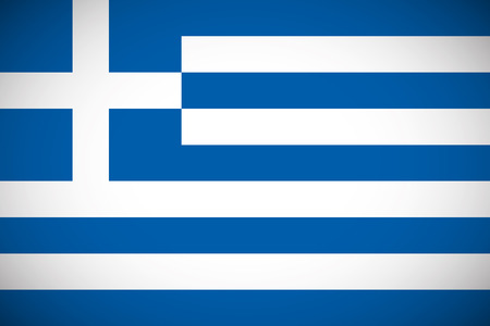 greek islands: National flag of Greece with correct proportions and color scheme