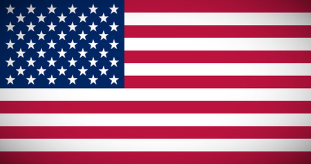proportions: National flag of the USA with correct proportions and color scheme
