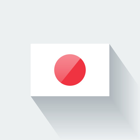 Glossy icon with national flag of Japan. Correct proportions and color scheme.