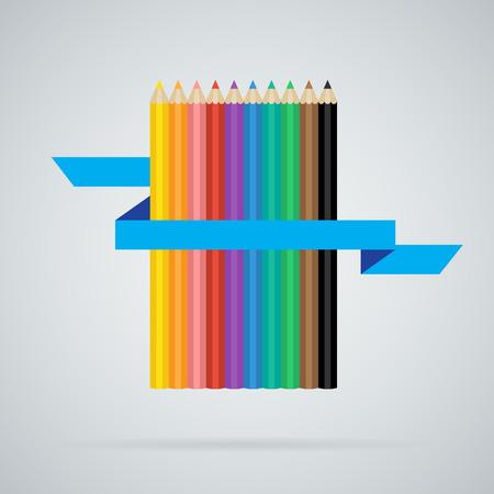 L�pices de colores conjunto de 10 colores diferentes con la cinta azul