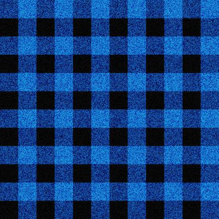 青い木こり格子柄のシームレス パターン
