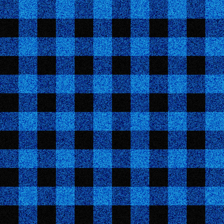 Blue lumberjack plaid seamless pattern