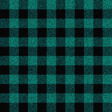Turquoise houthakker plaid naadloos patroon Stock Illustratie