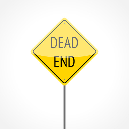 dead end: Dead end traffic sign isolated on white background Illustration