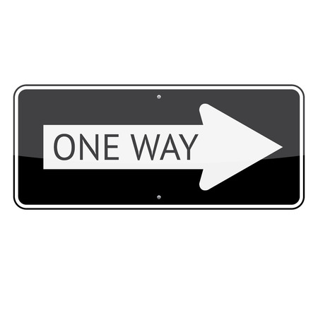 One way traffic sign isolated on white background  イラスト・ベクター素材
