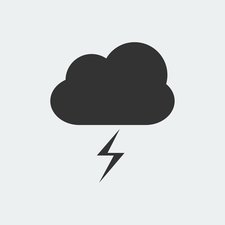 Storm weather icon isolated on white background Illustration