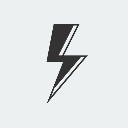 Lightning icon isolated on white background Иллюстрация