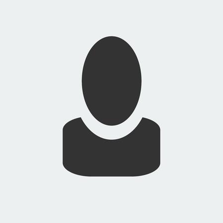 User icon isolated on white background