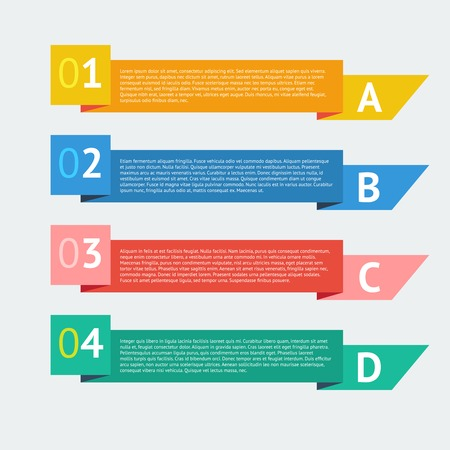 Flat number options banner. Infographics design vector template. Vector