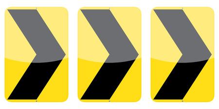 alignment: Conjunto de tres signos de alineaci�n del gal�n derecho aisladas sobre fondo blanco Vectores