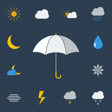 Weather icons collection for web and mobile applications.  Vector