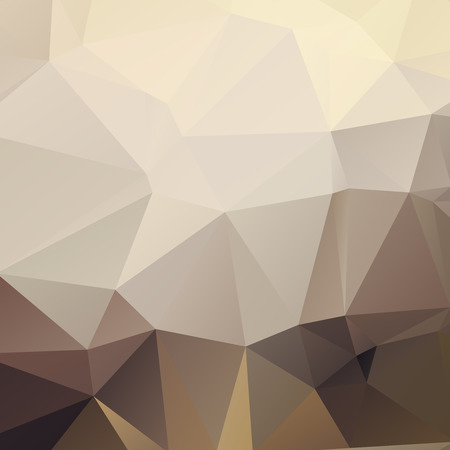Stylish polygonal abstract light brown background with triangles