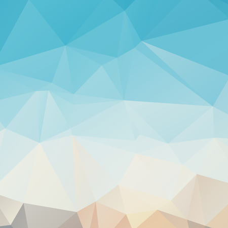 Stylish light blue polygonal abstract background with triangles Stock Illustratie
