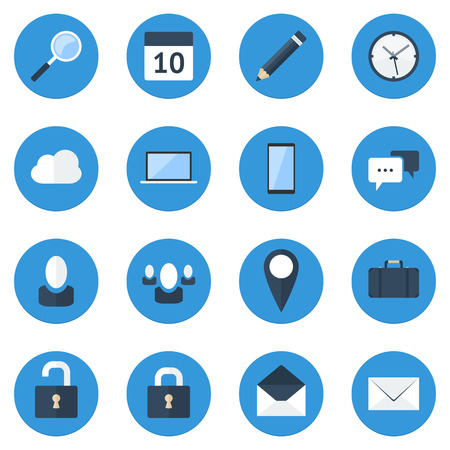 High-quality flat design vector icon set for web and mobile apps Vector