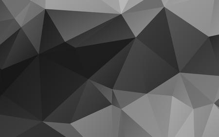 fondo blanco y negro: Elegante fondo abstracto del vector poligonal blanco y negro