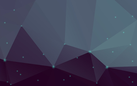 Stylish deep blue abstract polygonal vector background