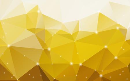 radiant: Stylish radiant yellow abstract polygonal  Illustration
